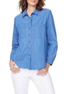 NYDJ Cotton Blend Utility Shirt