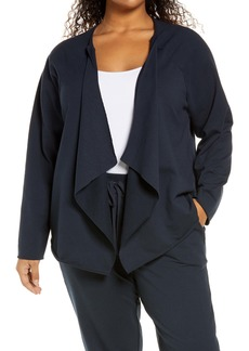 NYDJ Draped Open Front Sweatshirt Jacket (Plus Size)