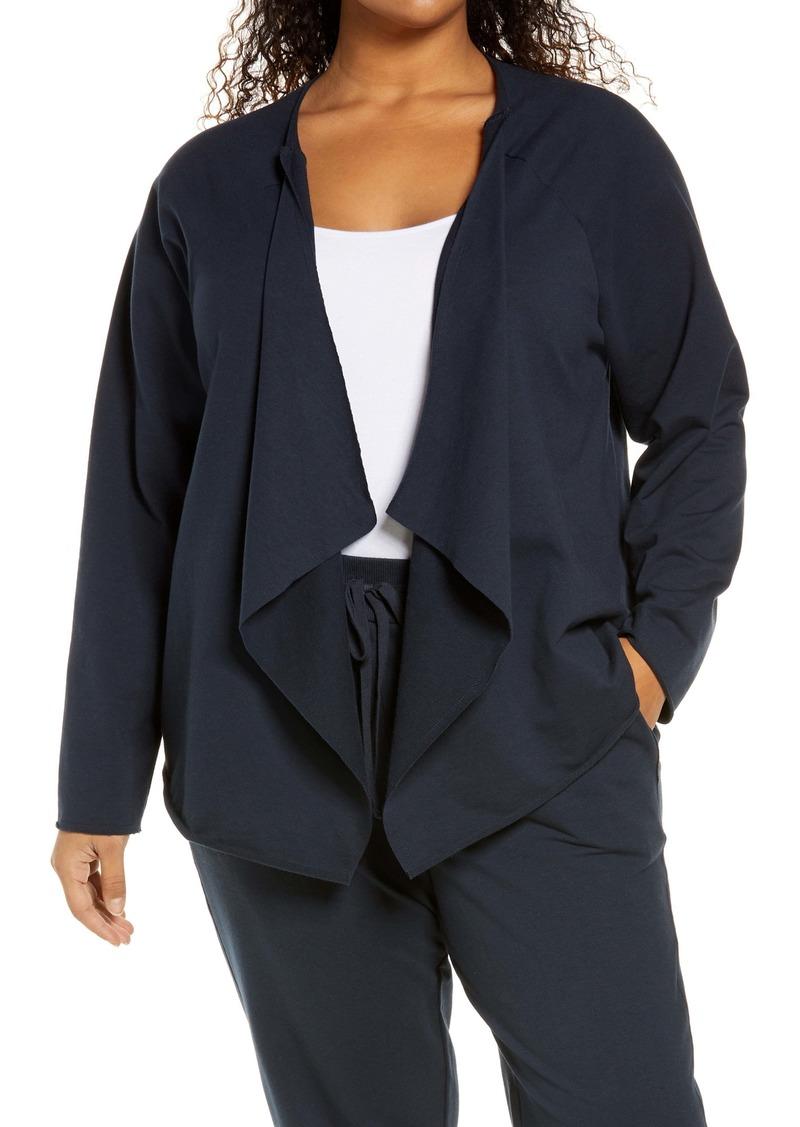 NYDJ Draped Open Front Sweatshirt Jacket (Plus Size)