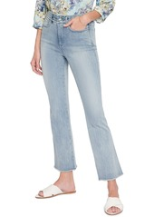 NYDJ Embroidered High Waist Frayed Ankle Slim Bootcut Jeans (Clean Affection)