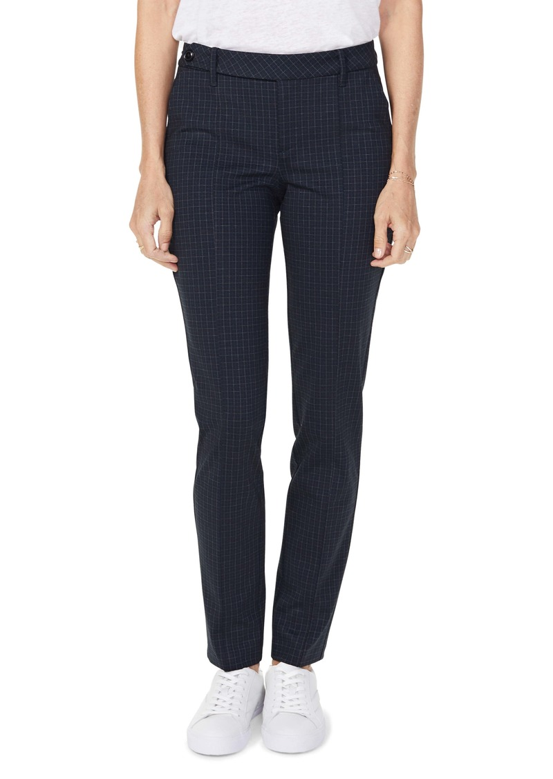NYDJ Everyday Windowpane Grid Tapered Trousers