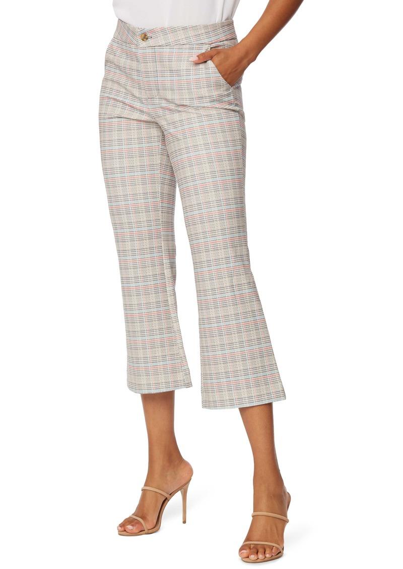 NYDJ Flare Crop Ponte Bootcut Pants (Tyburn Plaid)