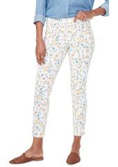 NYDJ Floral Ankle Slit Crop Skinny Jeans (Zinnia Marigold Arrangement)