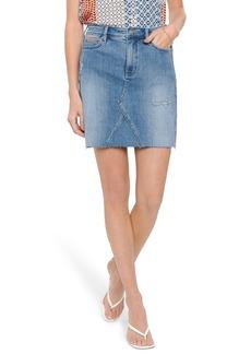 NYDJ High Waist Cutoff Denim A-Line Skirt