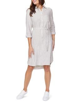 NYDJ Linen Blend Long Sleeve Shirtdress