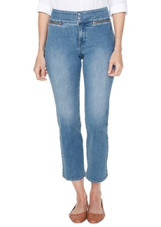 NYDJ Marilyn Ankle Straight Leg Jeans (Clean Brickell)