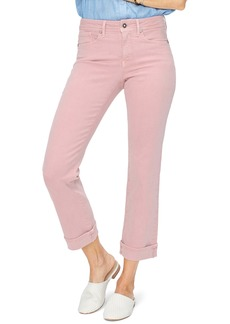 NYDJ Marilyn Cuff Ankle Straight Leg Jeans (Optic White)