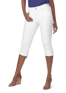 NYDJ Marilyn Cuffed Cropped Jeans in Optic White