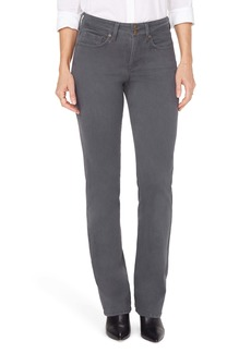 NYDJ Marilyn Double Snap Straight Leg Jeans (Grenache) (Vintage Pewter) (Regular & Petite)