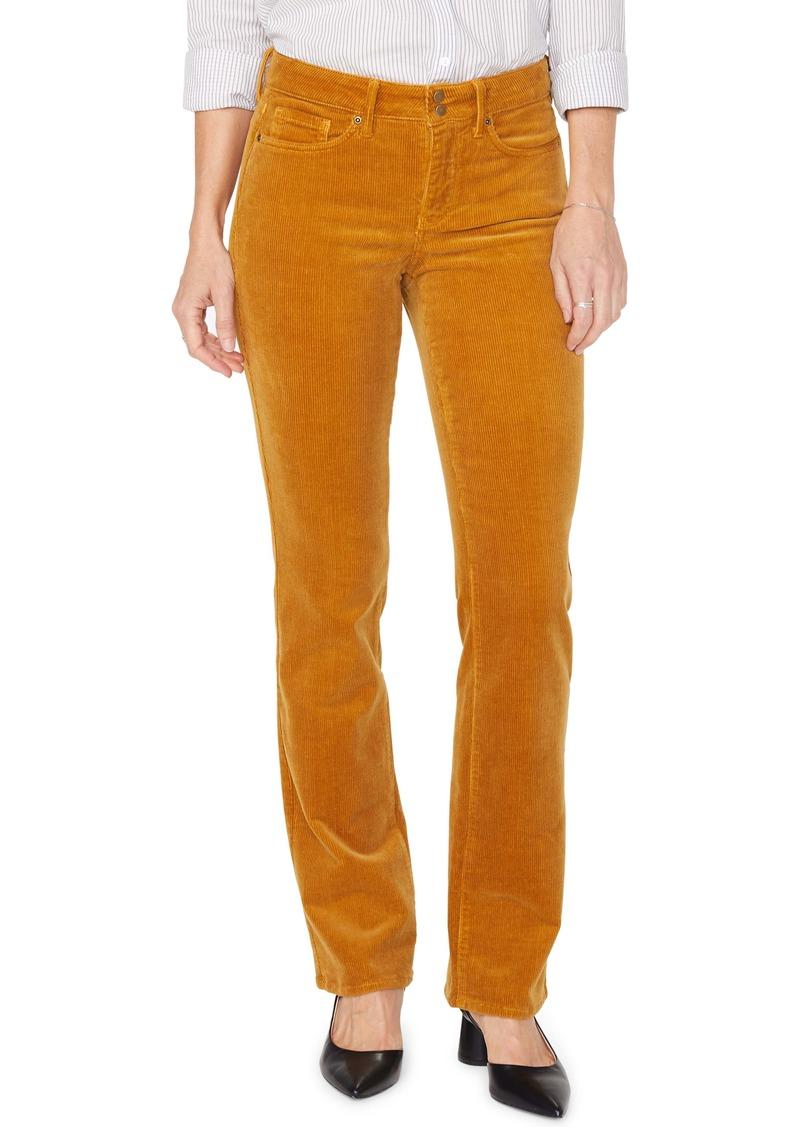 NYDJ Marilyn Double Snap Waist Straight Leg Jeans