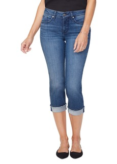 NYDJ Marilyn Fray Cuff Crop Skinny Jeans (Meloy) (Regular & Petite)