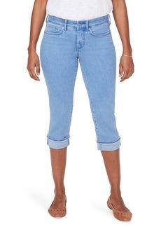 NYDJ Marilyn Fray Hem Cuff Crop Jeans (Regular & Petite) (Belle Isle)