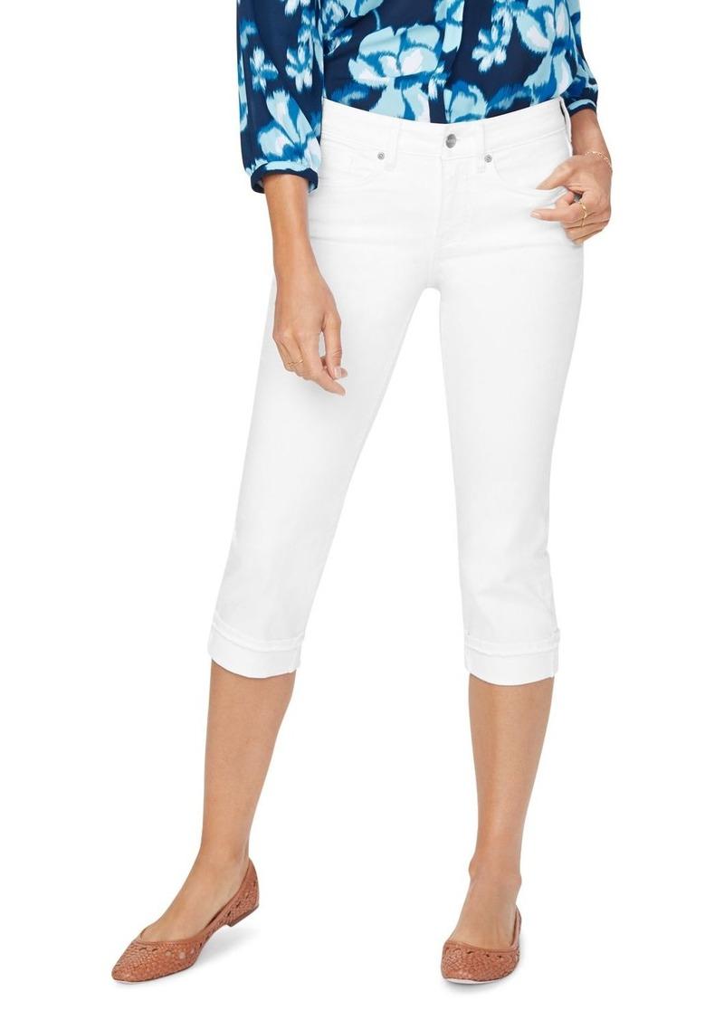 NYDJ Marilyn Frayed Hem Cropped Jeans