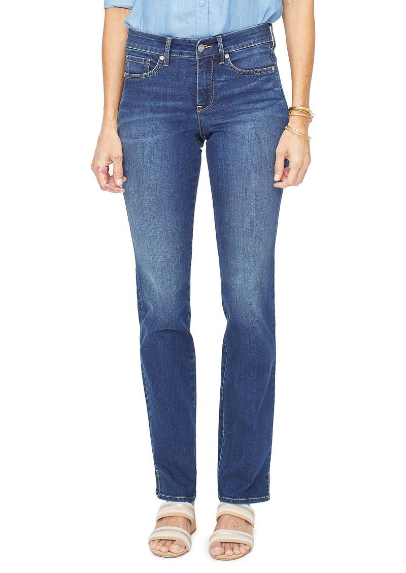 NYDJ Marilyn High Waist Slit Cuff Straight Leg Jeans (Junipero)