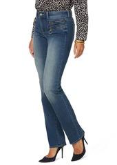 NYDJ Marilyn Hip Zip Straight Leg Jeans (Clean Enchantment)