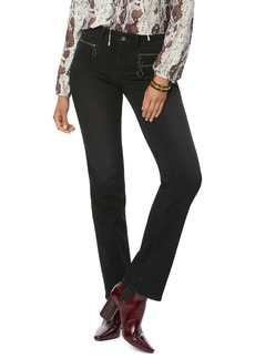 NYDJ Marilyn Hip Zip Straight Leg Jeans (Glory) (Petite)