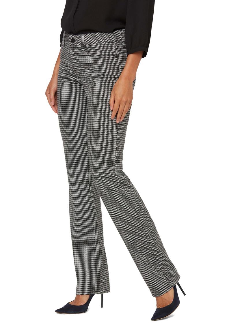 NYDJ Marilyn Houndstooth Straight Leg Pants