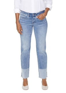 NYDJ Marilyn Pieced Hem Ankle Straight Jeans in Coheed