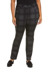 NYDJ Marilyn Plaid Ponte Straight Leg Pants (Plus Size)