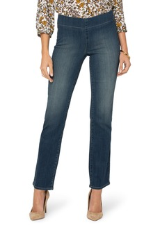 NYDJ Marilyn Pull-On Straight Leg Jeans (Clean Balance)