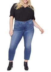 NYDJ Marilyn Raw Hem Ankle Straight Leg Jeans (Hobie) (Plus Size)