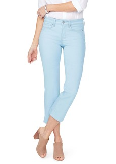 NYDJ Marilyn Side Slit Ankle Straight Leg Jeans (Mica)