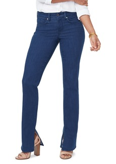NYDJ Marilyn Side Slit Straight Leg Jeans (Kanan)