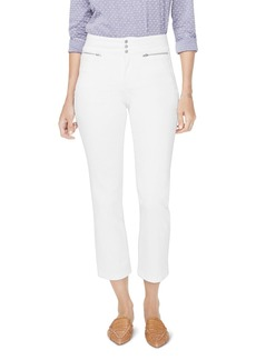 NYDJ Marilyn Straight Ankle Jeans in Optic White