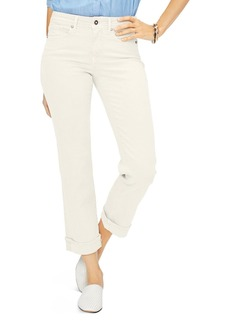 NYDJ Marilyn Straight Cuffed Ankle Jeans in Feather