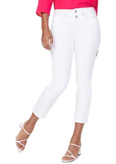 Nydj Marilyn Straight-Leg Buttoned Mock-Fly Ankle Jeans