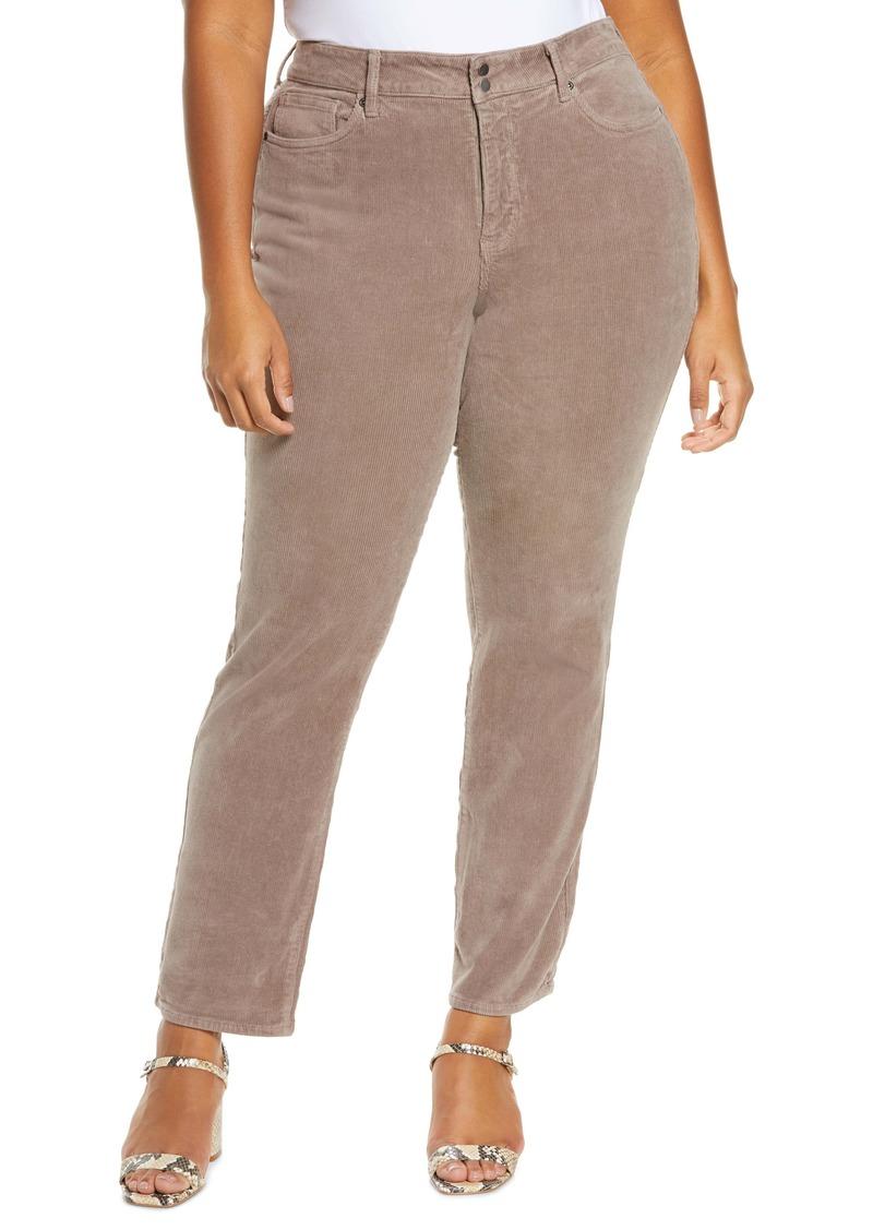 NYDJ Marilyn Straight Leg Corduroy Pants (Plus Size)