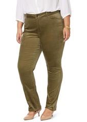 NYDJ Marilyn Straight Leg Cotton Blend Velvet Pants (Plus Size)