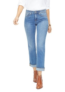 NYDJ Marilyn Straight-Leg Cuffed Ankle Jeans in Rhodes