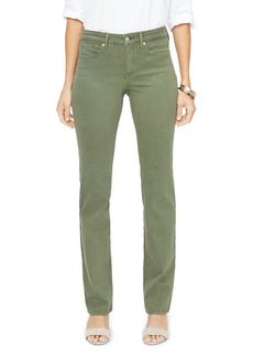 NYDJ Marilyn Straight-Leg Jeans in Olivine