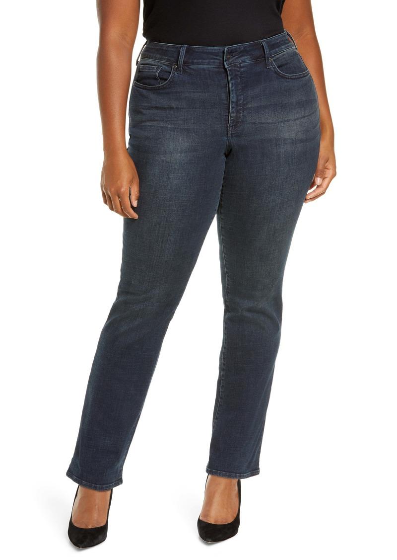 NYDJ Marilyn Straight Leg Jeans (Lombard) (Plus Size)