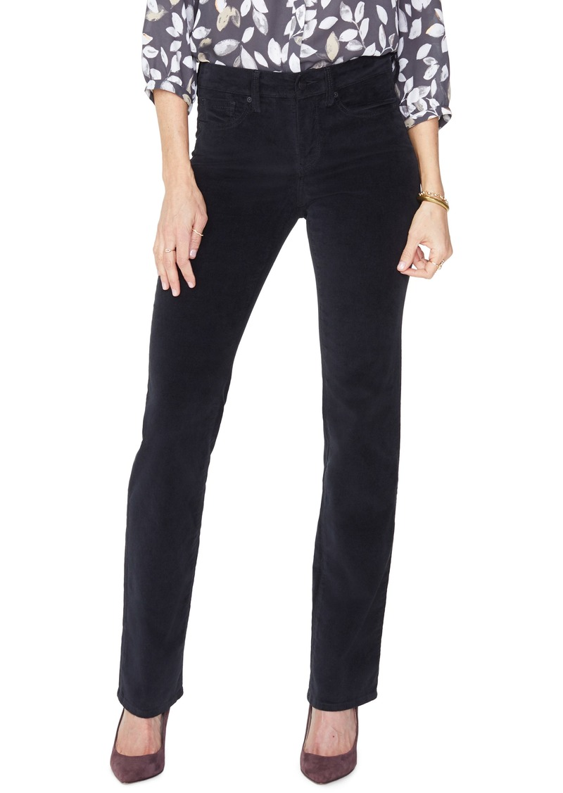 NYDJ Marilyn Straight Leg Velveteen Pants (Regular & Petite)