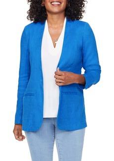 NYDJ One-Button Linen Blend Blazer