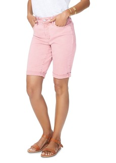 NYDJ Briella Cuffed Denim Bermuda Shorts in Pueblo Rose