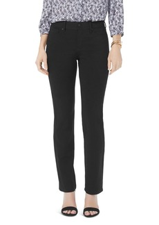 NYDJ Petites Marilyn Straight Jeans in Black