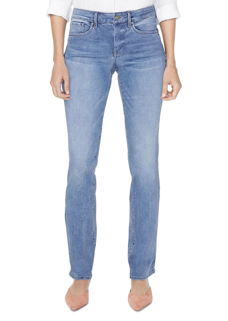 NYDJ Petites Marilyn Straight-Leg Jeans in Biscayne