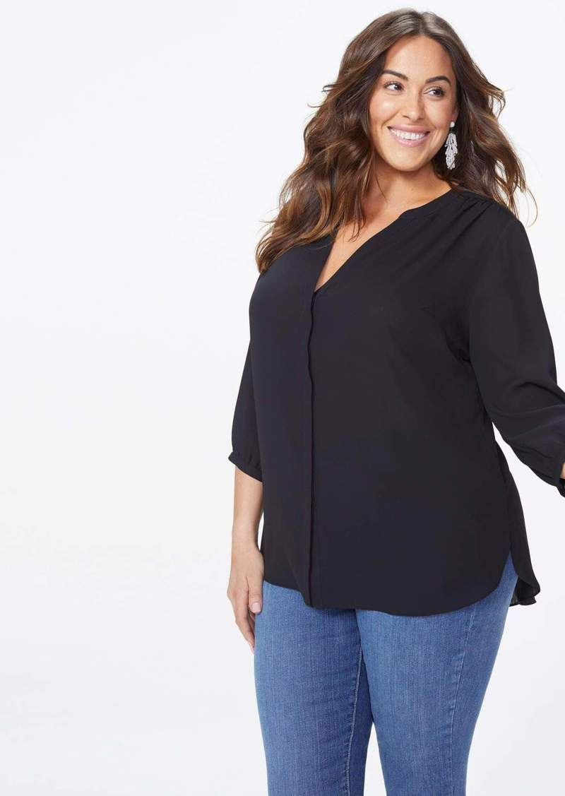NYDJ Pintuck Blouse Top