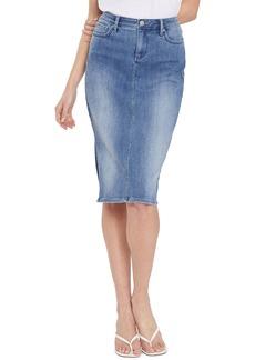 NYDJ Pinup Side Slit Denim Skirt (Clean Horizon)