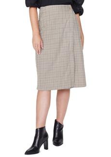 NYDJ Plaid Faux Wrap Skirt