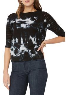 NYDJ Pointelle Sleeve Cotton Sweater