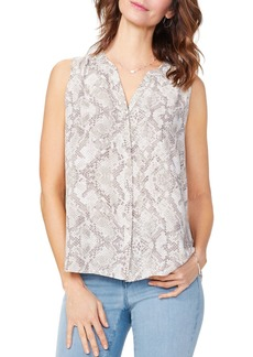 NYDJ Printed Pintuck-Back Blouse - 100% Exclusive
