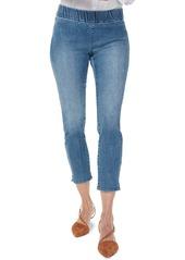 NYDJ Pull-On Ankle Slit Skinny Jeans (Clean Brickell)