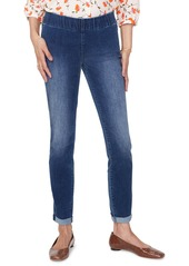 NYDJ Pull-On Rolled Cuff Skinny Ankle Jeans