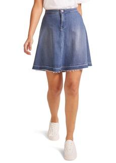 NYDJ Raw Released Hem A-Line Denim Skirt (Lido)