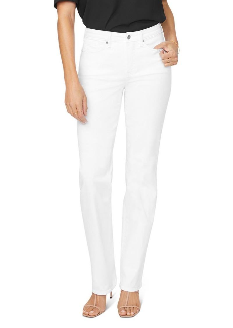 NYDJ Relaxed Straight Jeans in Optic White