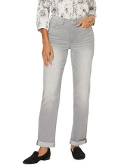 NYDJ Roll Cuff Relaxed Straight Leg Jeans (Grace)
